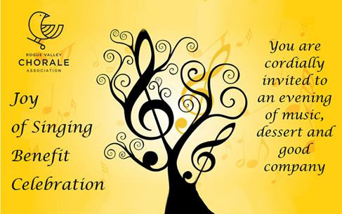 The Joy of Singing Benefit - invitation