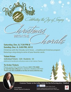 Christmas With The Chorale, December 2012