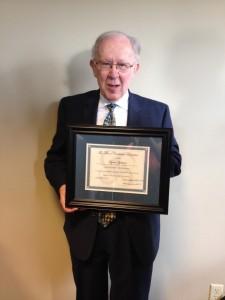 Lynn Sjolund with Emeritus Award